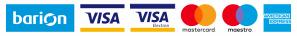 A kényelmes és biztonságos online fizetést a Barion Payment Zrt. biztosítja, MNB engedély száma: H-EN-I-1064/2013 Bankkártyád adatai áruházunkhoz nem jutnak el.